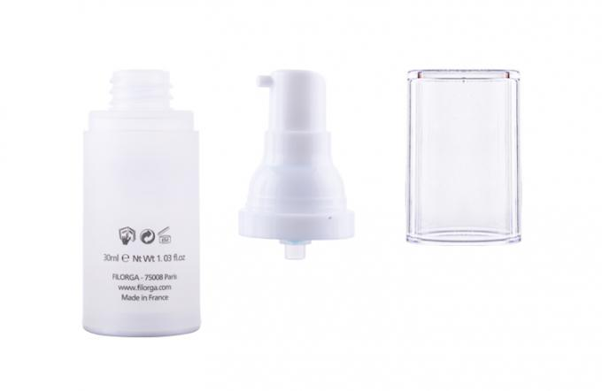 Frosted Transparent Empty Airless Lotion Bottle Various Printing Type Optional
