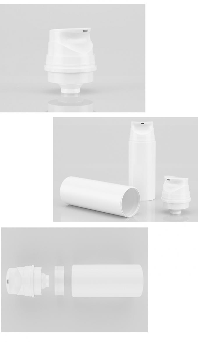 Deluxe Plastic Airless Lotion Bottle With Airless Pump Customized Design
