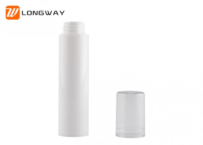 5ml Plastic PP Airless Lotion Bottle Silvering Color For Cosmetic Packaging