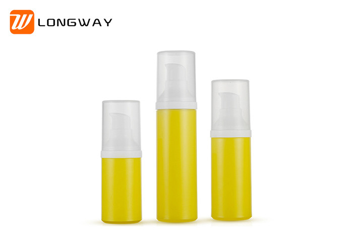 30ml 50ml Airless Pump Bottles , Snap On  Cosmetic Lotion Bottle 0.25cc Dosage