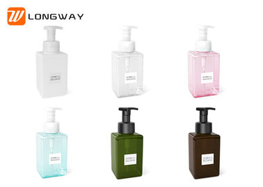China Durable Square Refillable Cosmetic PETG Bottle For Shower Gel / Cleanser 250ml factory