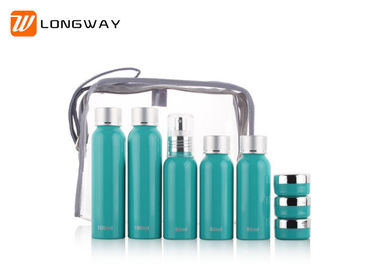 China 8pcs Hotel Travel Toiletry Bottle Kit With Aluminum Cap 100ML / 80ML Capacity distributor