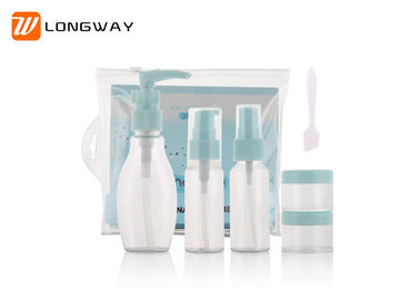 China Non Leak Travel Toiletry Bottle Kit Liquid PET Containers Set With Resealable Bag distributor