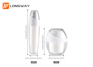 China Popular Plastic Cosmetic Serum Bottles , Empty Cosmetic Bottle Refillable Set distributor