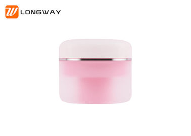 Pink PP double-wall luxurious Cream Jar for cosmetic packaging