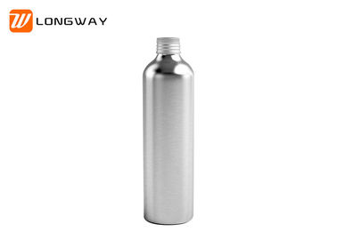 China Small Matte Silver Plastic Cosmetic Bottles With Aluminum Cap OEM Acceptable factory