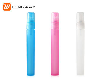 China PP Mini Colorful Refillable Perfume Spray Bottle With Full Natural Plastic PP Cap factory